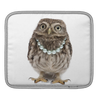Front view of a Young Little Owl Sleeve For iPads