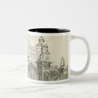 Front view of Buckingham Palace Two-Tone Coffee Mug