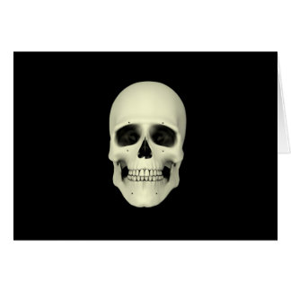 Front View Of Human Skull Card