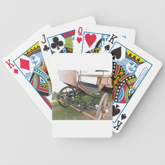 Front view of old-fashioned horse carriage bicycle playing cards