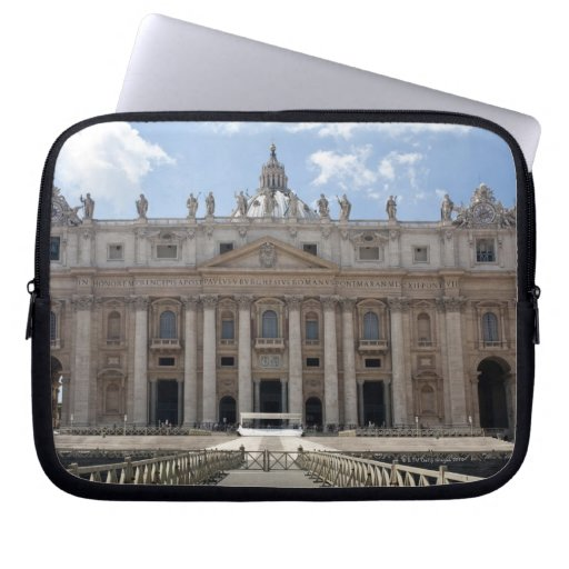 Front view of St. Peter's Basilica, Vatican. Computer Sleeve