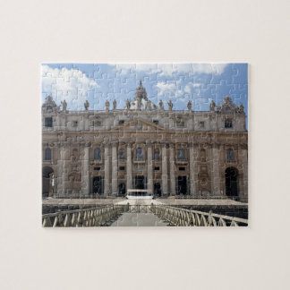 Front view of St. Peter's Basilica, Vatican. Jigsaw Puzzle
