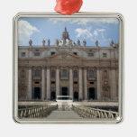 Front view of St. Peter's Basilica, Vatican. Metal Ornament