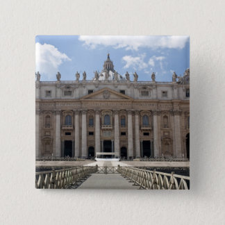 Front view of St. Peter's Basilica, Vatican. Pinback Button