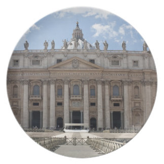 Front view of St. Peter's Basilica, Vatican. Plates