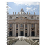 Front view of St. Peter's Basilica, Vatican. Spiral Notebook