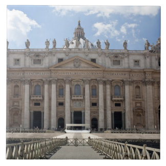 Front view of St. Peter's Basilica, Vatican. Tile