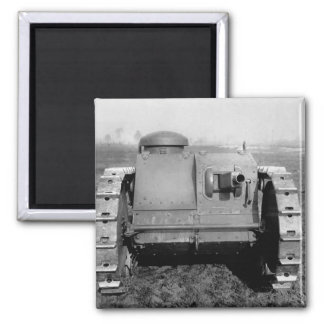Front view of the two-man tank_War image 2 Inch Square Magnet