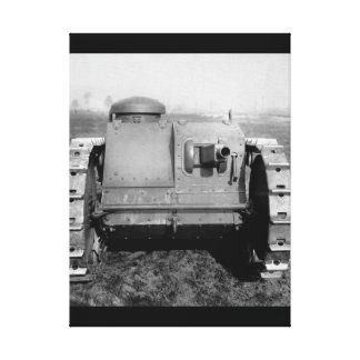 Front view of the two-man tank_War image Canvas Print