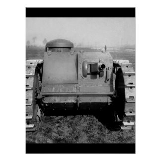 Front view of the two-man tank_War image Poster