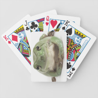Front View Studio shot of a Smiling, Whites Tree Bicycle Playing Cards