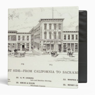 Front West side California and Sacramento Vinyl Binder