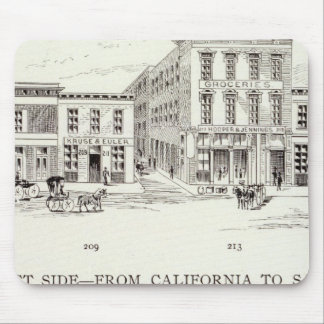 Front West side California and Sacramento Mouse Pad