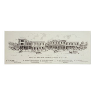 Front West side Sacramento and Clay Print
