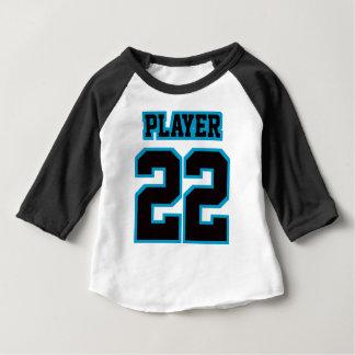 Front WHITE BLACK BLUE 3/4 Sleeve Raglan T-shirts