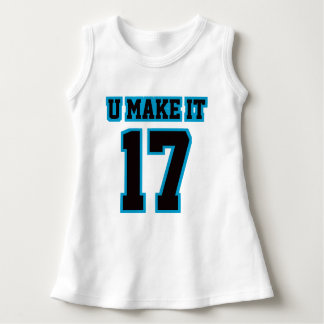 Front WHITE BLACK BLUE Dress Football Jersey