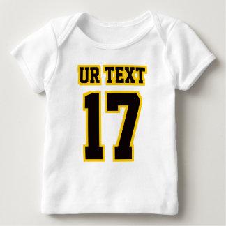 Front WHITE BLACK GOLD Lap Shirt Football Jersey