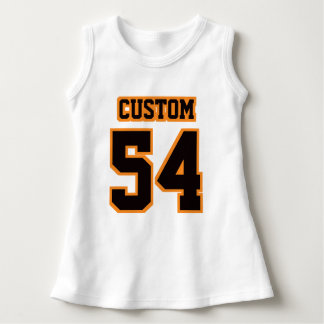 Front WHITE BLACK ORANGE Dress Football Jersey