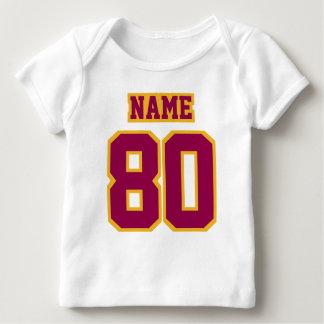 Front WHITE BURGUNDY GOLD Shirt Football Jersey