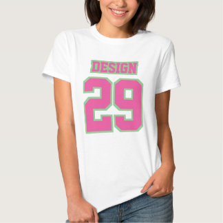 Front WHITE PINK GREEN Womens Basic Cotton TShirt