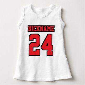 Front WHITE RED BLACK Dress Football Jersey