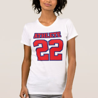 Front WHITE RED BLUE Women American Apparel Cotton T-Shirt