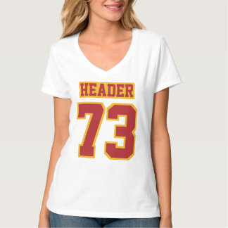 Front WHITE SCARLET RED GOLD Womens Hanes Nano Tee