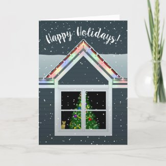 Front Window Holiday Card
