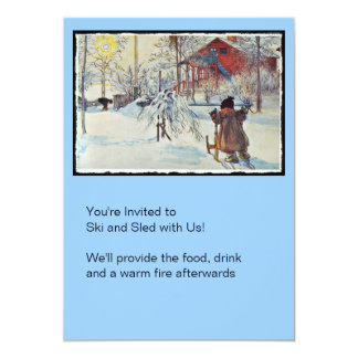 Front Yard and Wash House 5x7 Paper Invitation Card