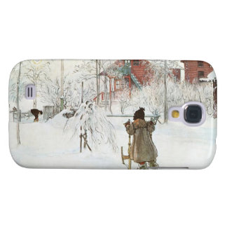 Front Yard and Wash House Carl Larsson Galaxy S4 Cover