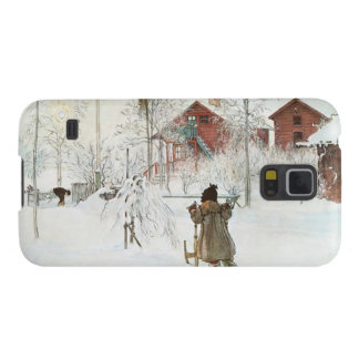 Front Yard and Wash House Carl Larsson Galaxy S5 Cases