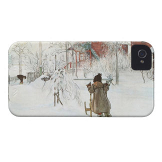 Front Yard and Wash House Carl Larsson iPhone 4 Covers