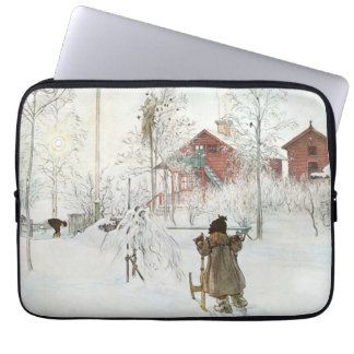 Front Yard and Wash House Carl Larsson Laptop Sleeve