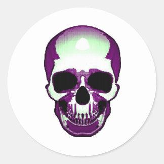 Frontal del cráneo pegatina redonda