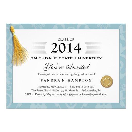 Frontera 2014 de la graduación del diploma y borla anuncio