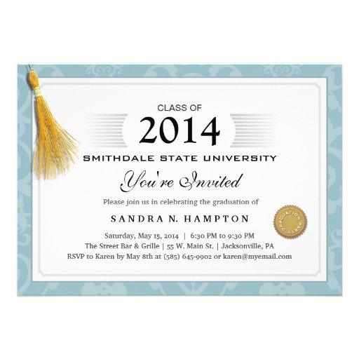 Frontera 2014 de la graduación del diploma y borla comunicados personalizados
