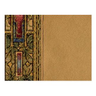 Frontera abstracta de 1920 papeles pintados postal