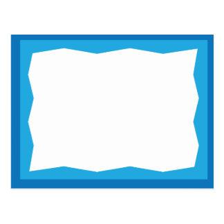 Frontera azul postal