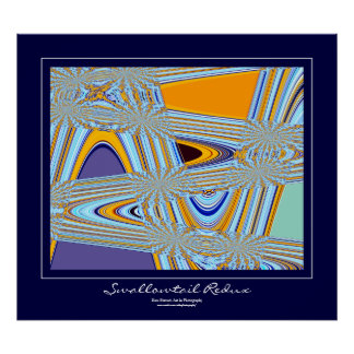 Frontera azul Redux de Swallowtail Póster