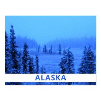 Frontera blanca para su foto de Alaska de las Tarjetas Postales