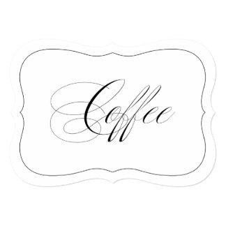"""Frontera cortada con tintas café elegante de la invitación 5"""" x 7"""""""