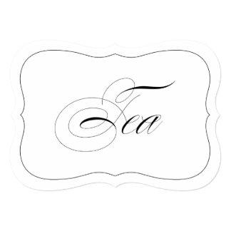 """Frontera cortada con tintas té elegante de la invitación 5"""" x 7"""""""