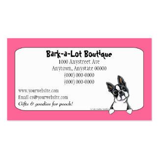 Frontera de encargo de la industria del mascota de tarjetas de visita