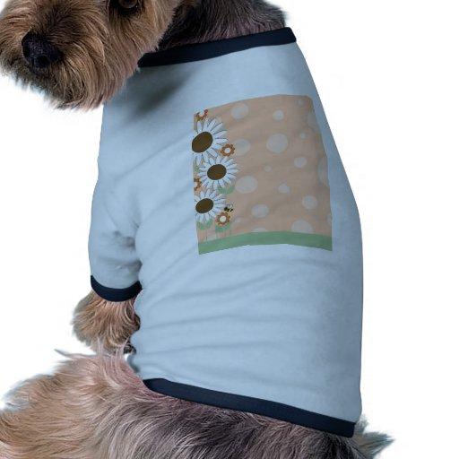Frontera de la flor de la margarita camisas de mascota