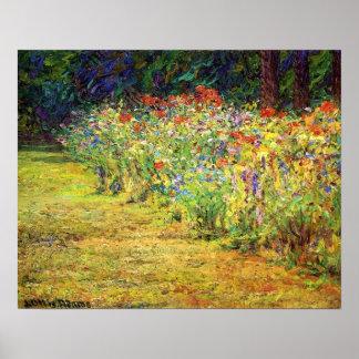 Frontera de la flor posters