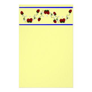 Frontera de la fresa inmóvil papeleria de diseño