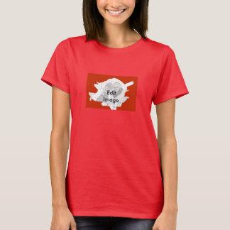 Frontera de la imagen del rosa para la camiseta