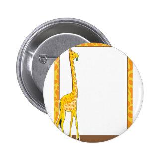 Frontera de la jirafa pin redondo 5 cm