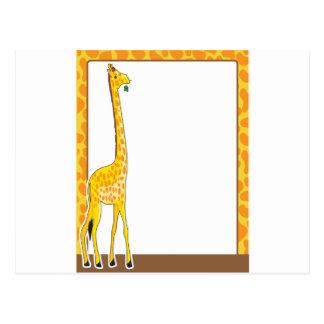 Frontera de la jirafa postal