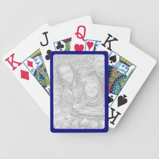 Frontera de la marina de guerra para los naipes de cartas de juego